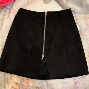 black velvet lf skirt
